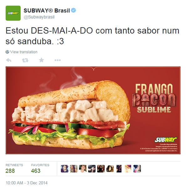 Assuntos do momento - Subway