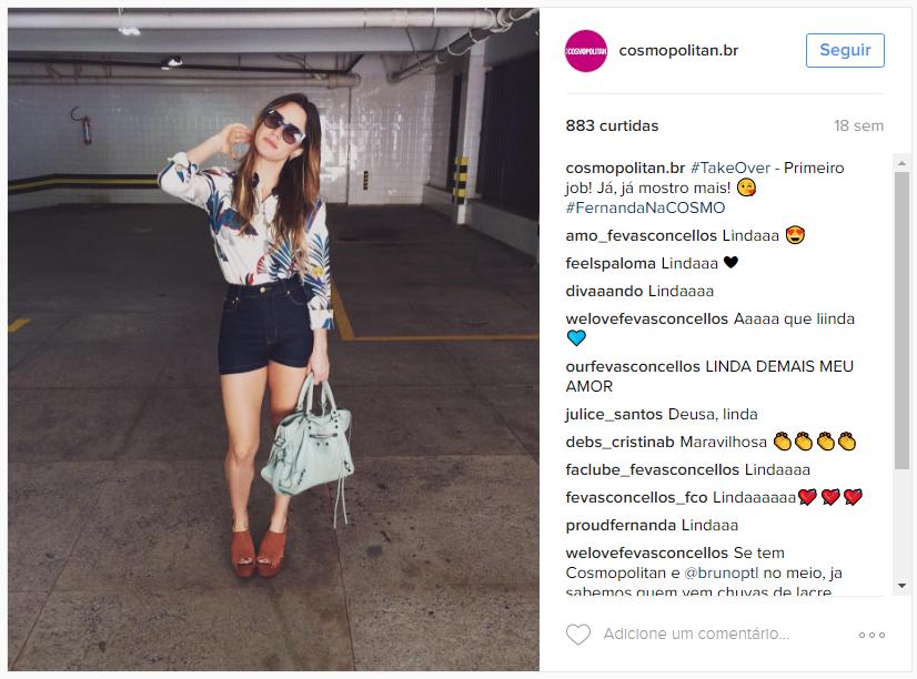 parceria de sucesso no Instagram - Cosmopolitan Br