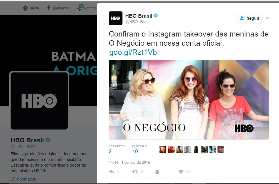 parceria de sucesso no Instagram - HBO
