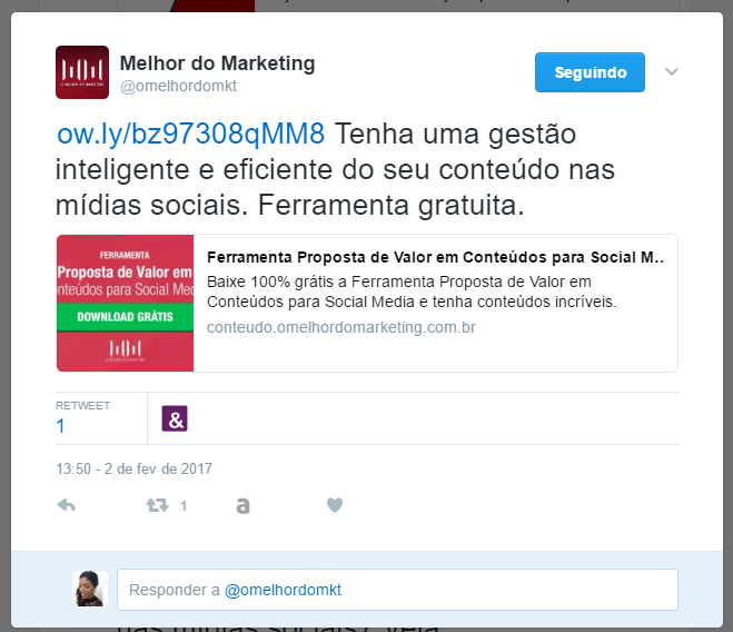 Reutilizar conteúdo - Twitter