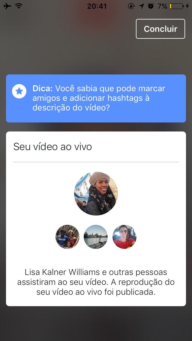 Colaboradores do Facebook Live - Mobile