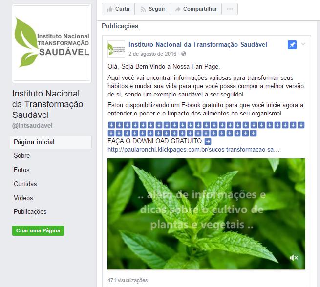 alcance-organico-facebook Instituto nacional transformação saudável