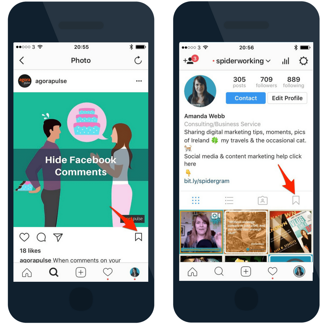 Use Instagram save to keep tabs on the users that matter