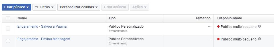 Crie um público personalizado com o engajamento de suas páginas do Facebook (1)