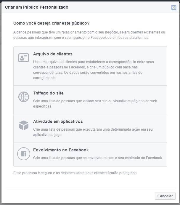 Crie um público personalizado com o engajamento de suas páginas do Facebook (2)
