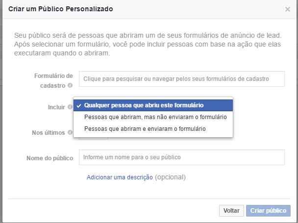 Crie um público personalizado com o engajamento de suas páginas do Facebook (5)