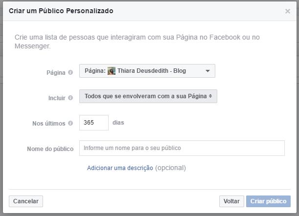 Crie um público personalizado com o engajamento de suas páginas do Facebook (7)