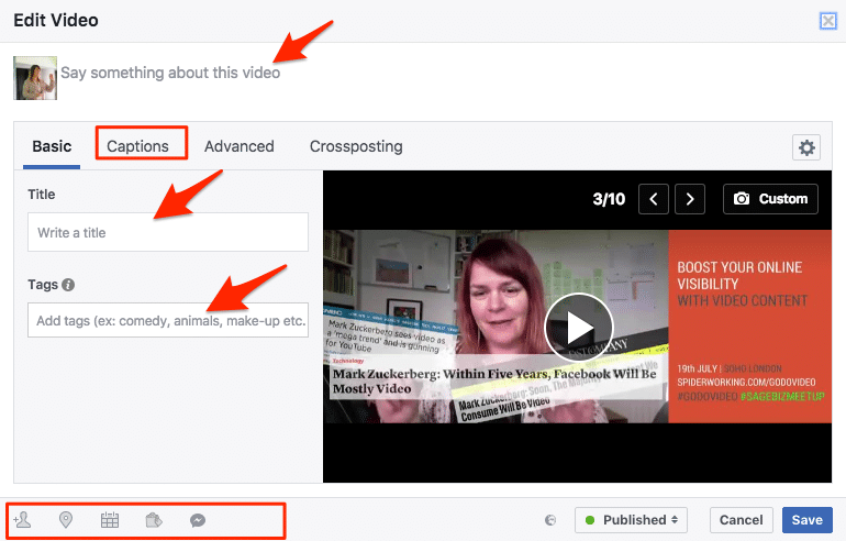 facebook video covers editing