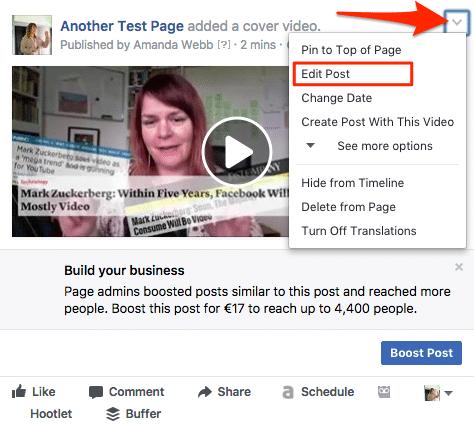 Editing facebook cover videos