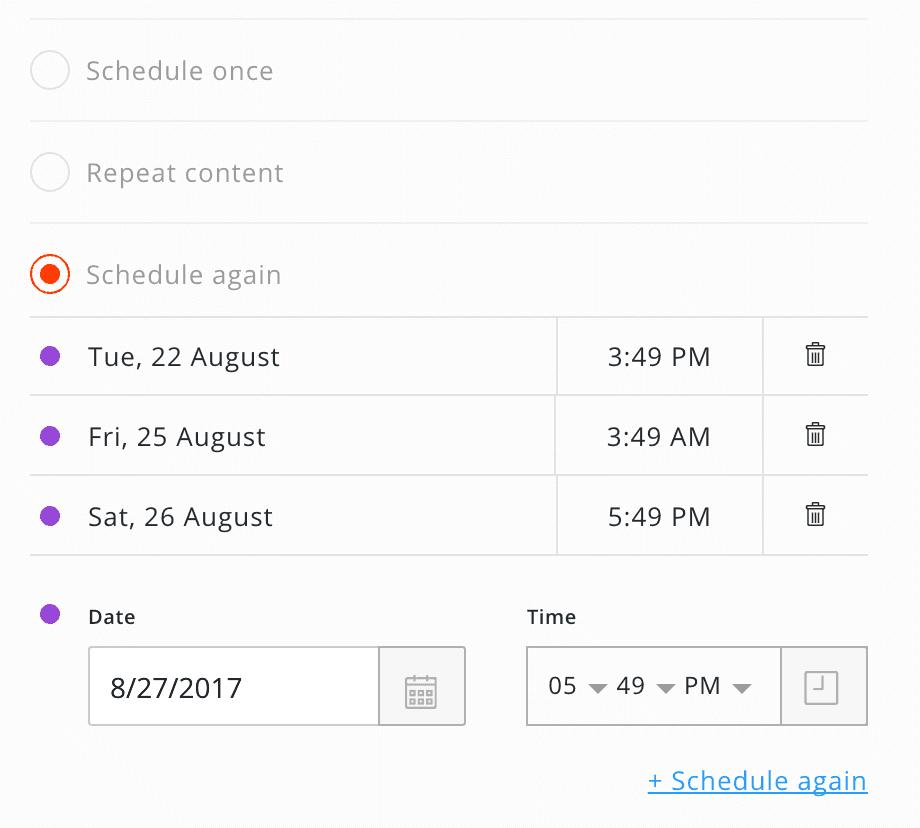 schedule social media content
