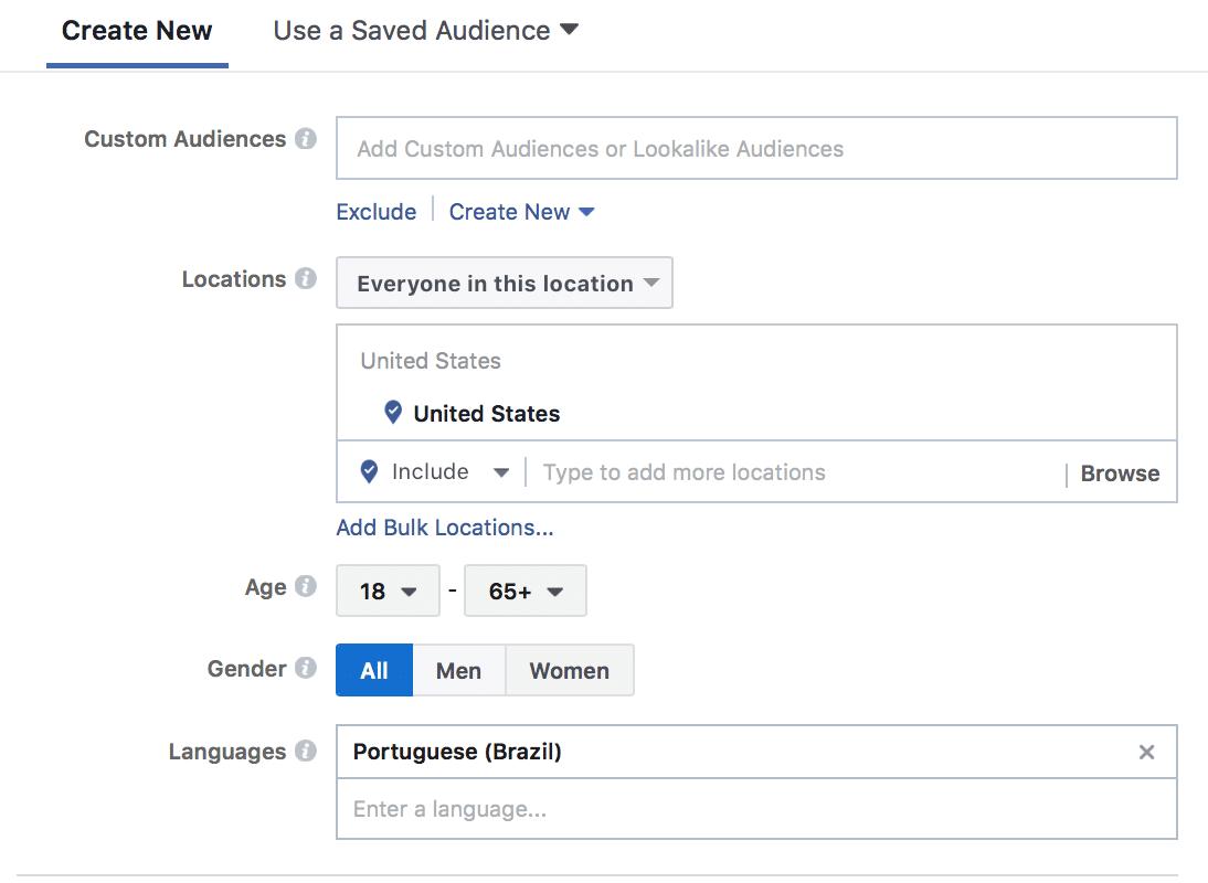Facebook audience speaks multiple languages
