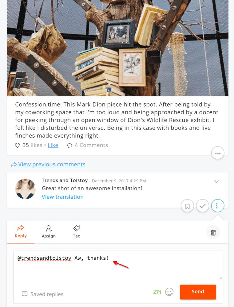 instagram comment management