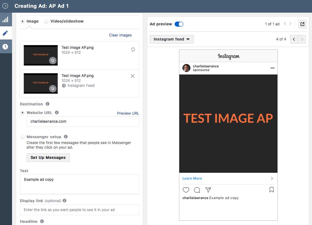 Native Instagram Format Placement Asset Customisation