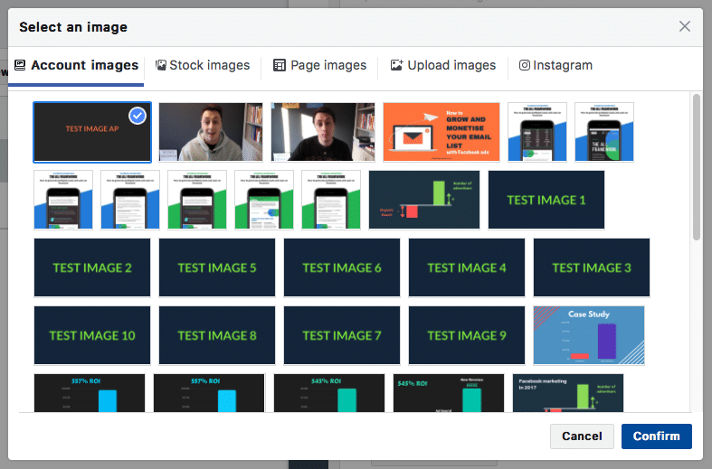 Facebook ad image library