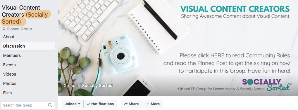 Brand your Facebook Group