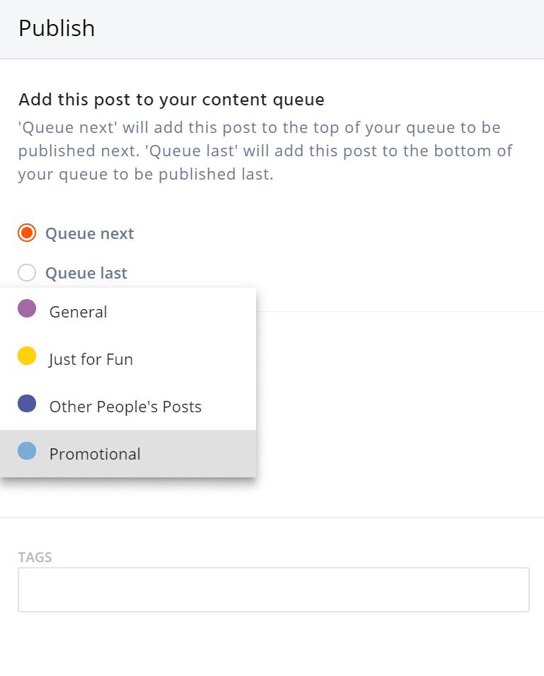 choose queue category