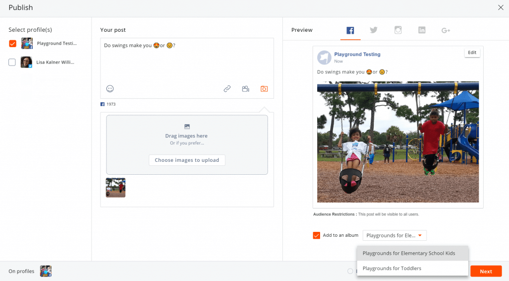 post to facebook groups-- create an fb group photo album