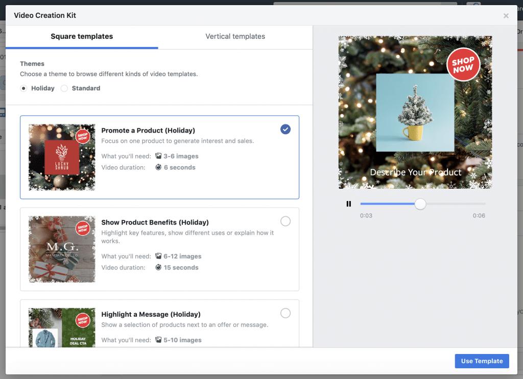 Facebook Creation Kit Holiday Theme