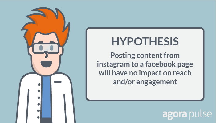Hypothesis: Posting content from Instagram to a Facebook page will have no impact on reach or engagement.