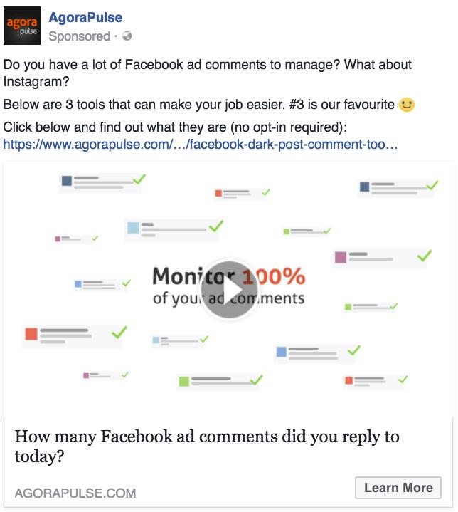 Agorapulse Facebook Video Ad