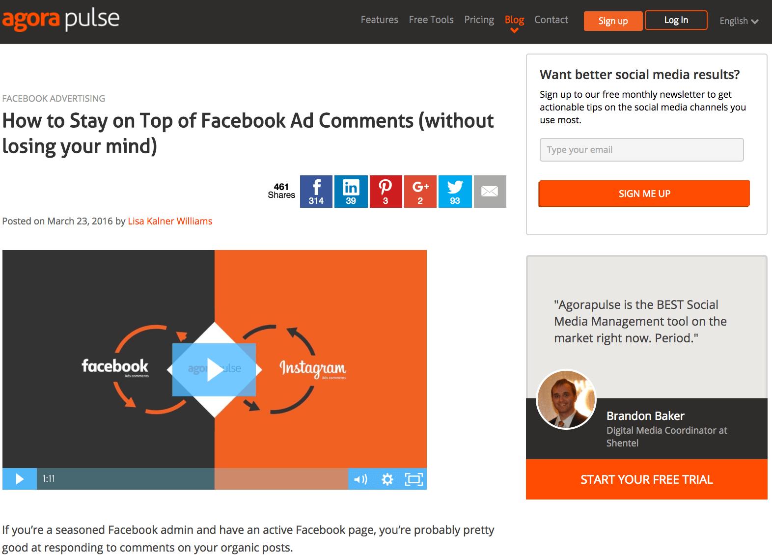 Quora Ad Blog post sample