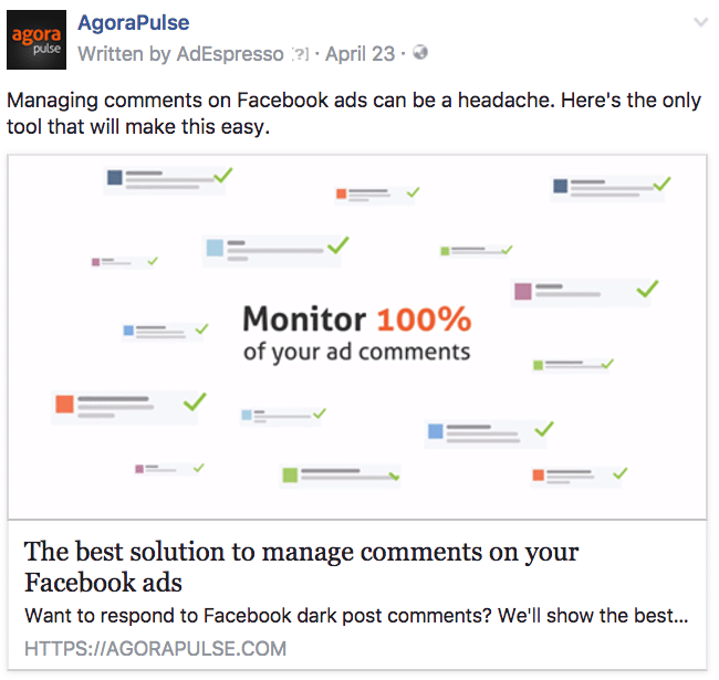 agorapulse facebook ad