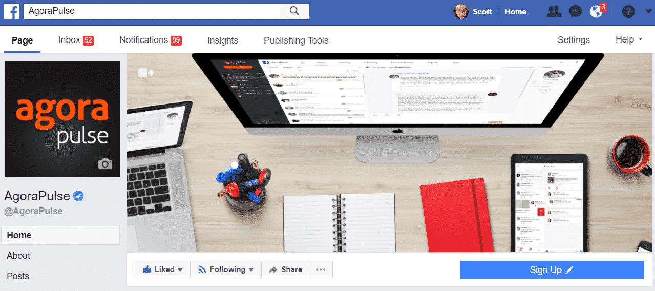 agorapulse facebook