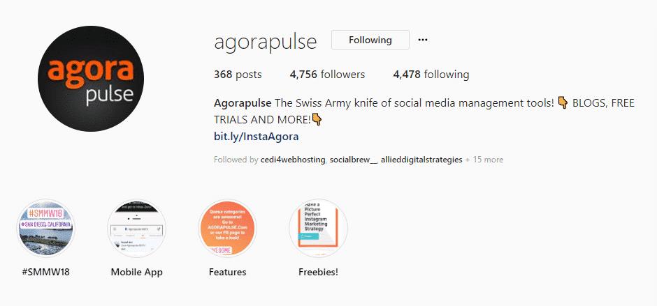 agorapulse instagram