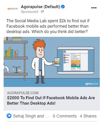 facebook ads no button