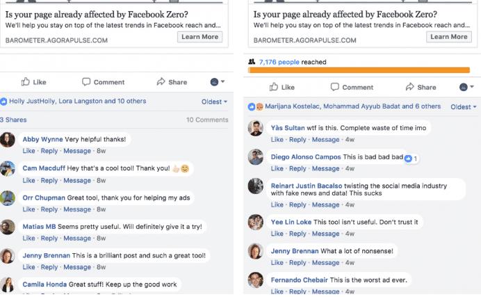 facebook ad comments screenshot