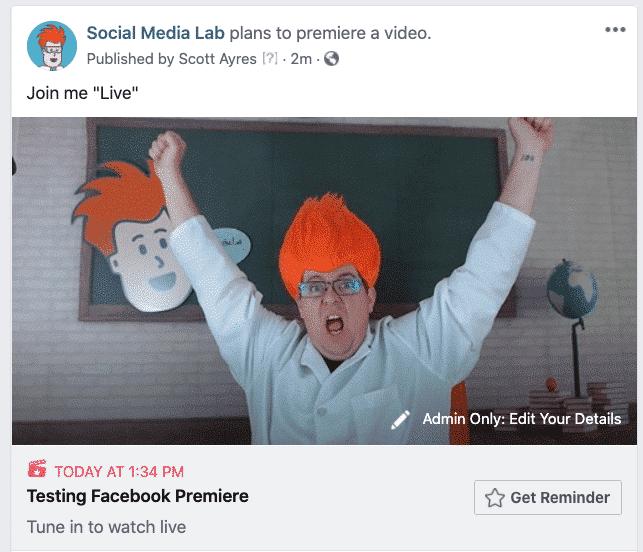 facebook premiere