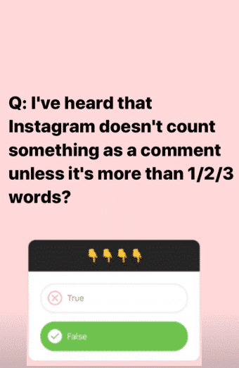 comments on instagram
