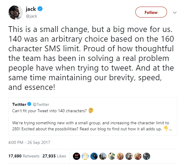 jack twitter character limit