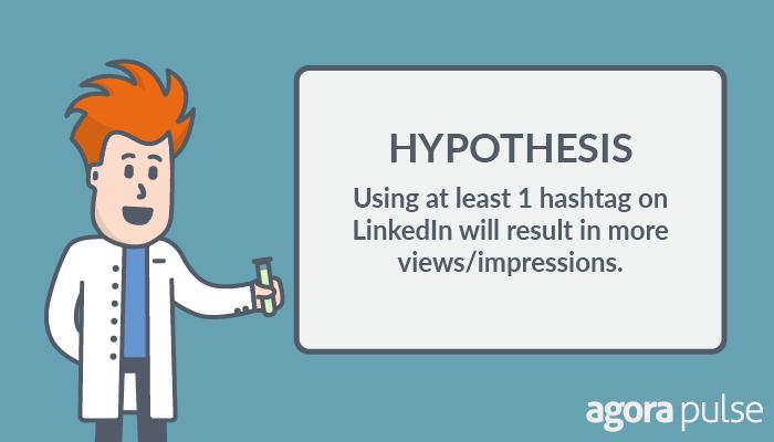 linkedin hashtag test