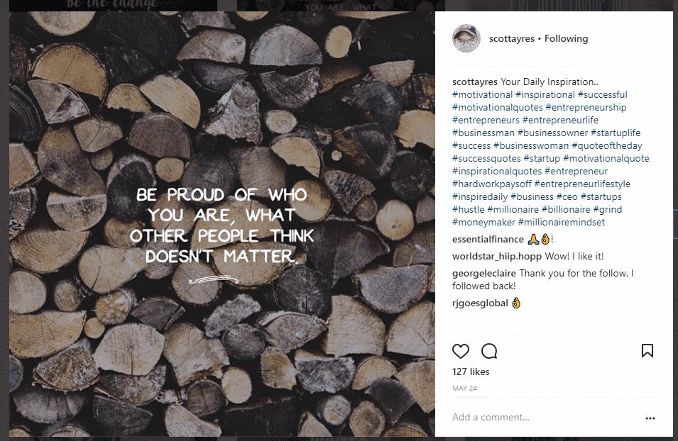 scott ayres 30 instagram hashtags