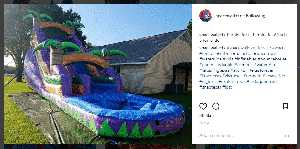 spacewalkctx Instagram hashtags in comments