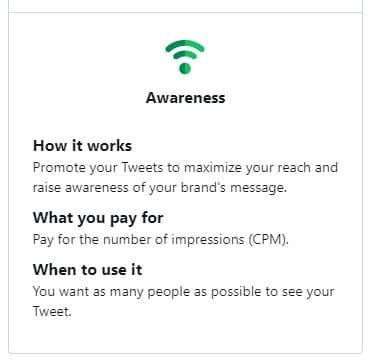 twitter ad awareness