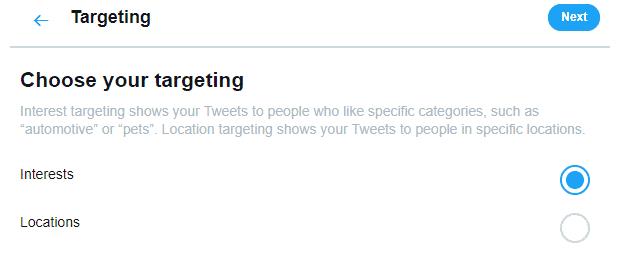 twitter promote targeting