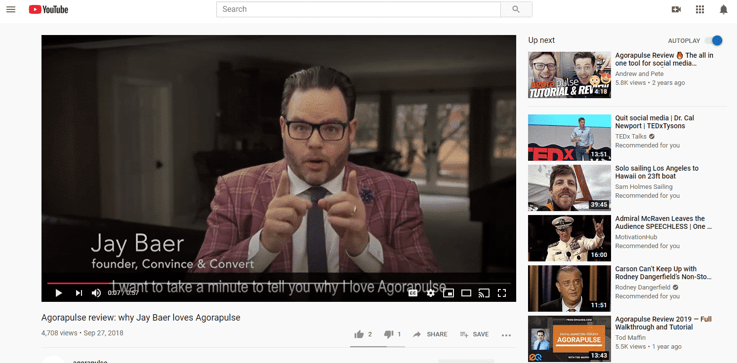 recommended youtube