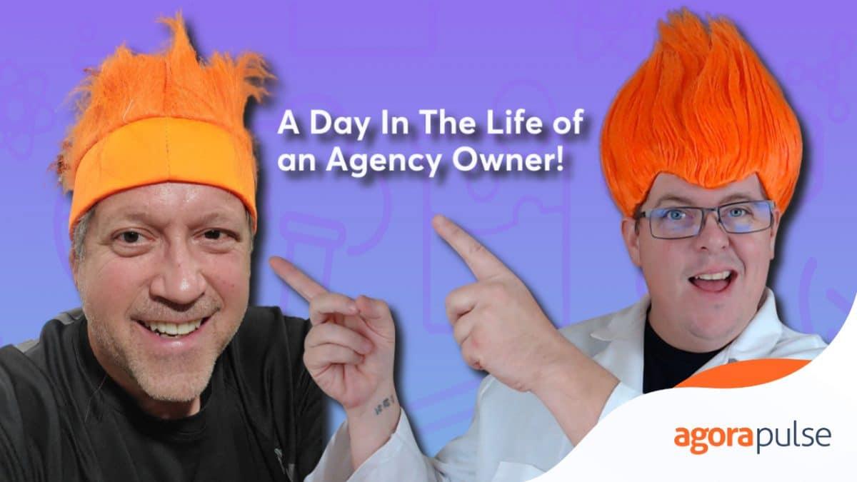 Brad Friedman and Scott Ayres in orange wigs